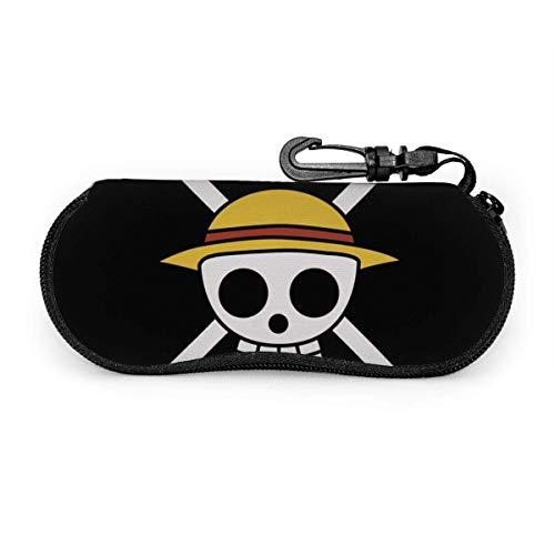 Brillenetui, One Piece Piratenflagge Tragbare Reise Reißverschluss Sonnenbrille Fällen Lesebrille Tasche Schutz Set