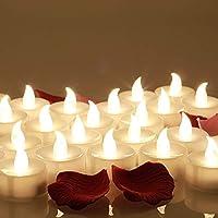La luce artificiale non è un vero e stoppino fiamma. ma assolutamente innocuo e inodore. 80 x rose e candele finte e luci di tè evocano un'atmosfera romantica in un lampo, ma non sono pericolosi. Coloro che hanno bambini o animali domestici, e sarà s...