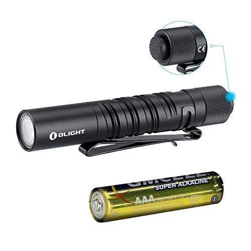 OLIGHT I3T Mini LED Taschenlampe, 180 Lumen EDC Pocket Taschenlampen, IPX8 Wasserdicht 2Modi für Campen, Wandern, Fahrradfahren kinder. (schwarz)