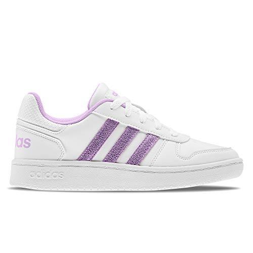 adidas Hoops 2.0 K, Zapatillas de Baloncesto, FTWBLA/LILCLA/Gridos, 36 EU