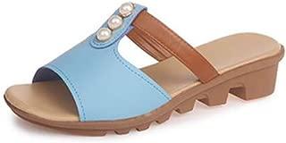 SHANLEE Women Girls Ladies Summer Flat Slippers,Bow Tie Rhinestones Open Toe Indoor Outdoor Beach Sandals