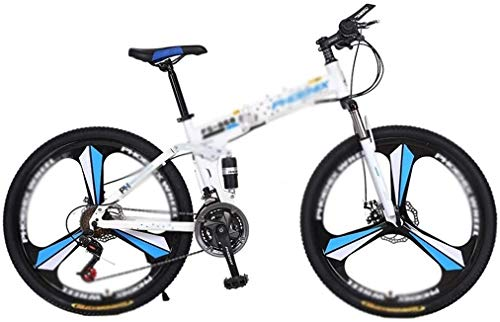 CHENXU Girls & Boys Kids Freestyle Bicycle Outroad Mountain Bike for Adult Teens, 24-26 Inch Bike Mountain Bikes 21-27 Speed Folding Bicycle Full Suspension MTB Bike for Men/Women