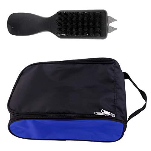 D DOLITY Portable Soporte de Guantes de Golf Carrier Bolsa y Zapato Cepillo Limpieza Herramientas para Travel Club