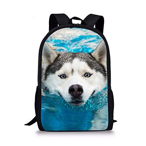 School Bags for Boys Backpack Rucksack Cool Husky Ocean Unique Designer Junior Kids Book Bags Large Bookbags