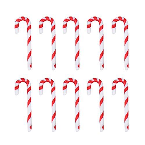NUOBESTY 50 Piezas Bastones de Caramelo de Navidad Colgante Decoración de Navidad Adorno para Árbol de Navidad Etiqueta
