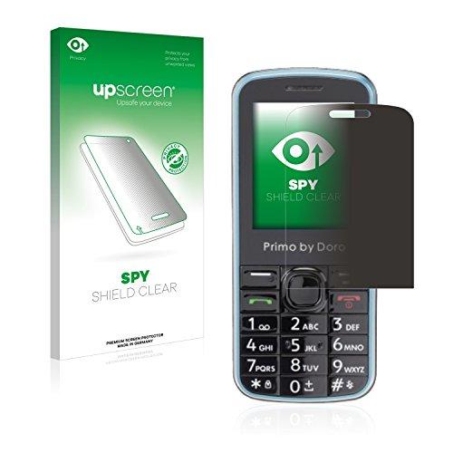 upscreen Anti-Spy Blickschutzfolie kompatibel mit Doro Primo 305 Privacy Screen Sichtschutz Bildschirmschutz-Folie