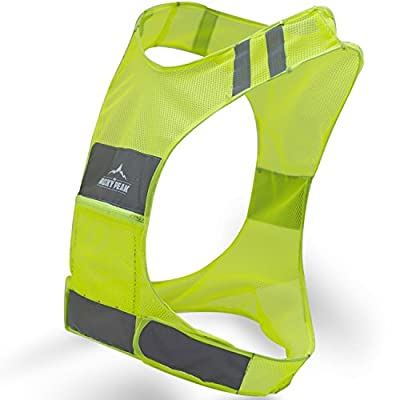 The Rocky Peak New Best Reflective Running Vest w/Pocket - #1 Recommended Safety Gear - Great for Biking, Cycling, Walking for Men & Women (Small-Large)