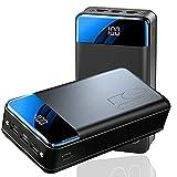 AEU Power Bank Bateria Externa Movil 50000Mah Cargador Portatil Carga Rapida Batería Portatil Tipo-C, 3 Entradas Y 3 Salidas Y Pantalla LED Y Linterna Powerbank para iPad Teléfono Y Viajes Cámping