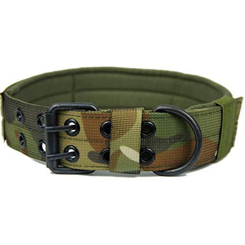 Lipeed Collar táctico para perros de Excellent de nailon resistente al desgaste, hebilla de metal para perros medianos y tácticos, para entrenamiento al aire libre CPL