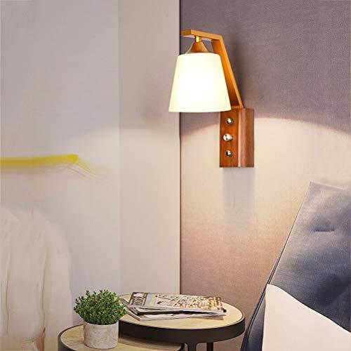 CLOVEML lámpara de Pared de Madera lámpara de Pared Vintage Retro Dormitorio Interior lámparas de Lectura de Pared Luces de la Sala iluminación de la Pared del Pasillo 7W 3500K luz de Noche cálido