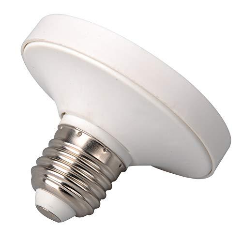 Portalámparas E27 a GX53, conversión LED, base de iluminación para interiores, uso doméstico, soporte ignífugo PBT duradero, adaptador para bombilla ignífuga, fácil instalación universal