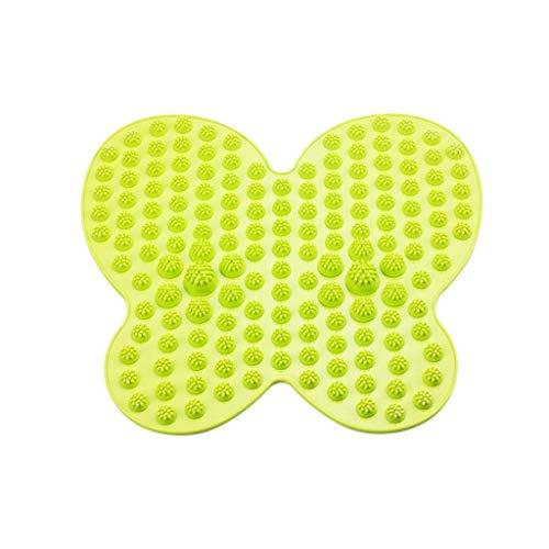 ZHWNGXO Tapis De Porte Pad Résistant À L'humidité Forme De Papillon Maison Souple (couleur: Rouge Taille: (38cm × 40cm) (Color : Green)