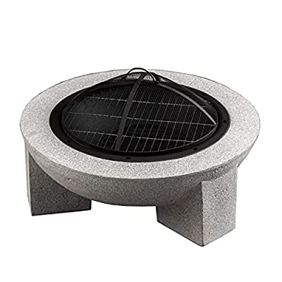 Fire Pit 30 inch fire Pit, Wood Burning fire Pit Table, Outdoor Garden Barbecue fire Pit, Heater, ice Pit from Lijack