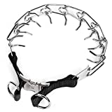 Pettom Trainning Dog Spike Choke Chain Dog Collar for Pet with Buckle- 20 Inches
