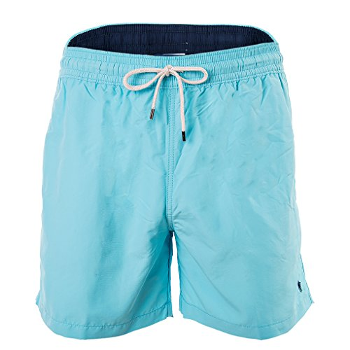 Polo Ralph Lauren Pantalones Cortos de natación Hombres, Traje de baño, Colores Lisos con Bordado con Logo