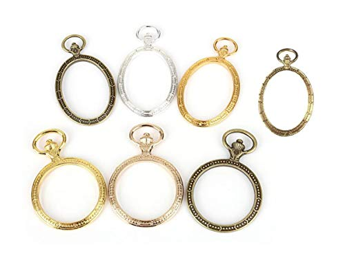 【30個セット】 懐中時計 レジン 枠 空枠 アクセサリー パーツ 円形 & 楕円形 アクセサリー 材料