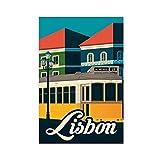 Lissabon Reise-Poster Leinwand Poster Schlafzimmer Dekor