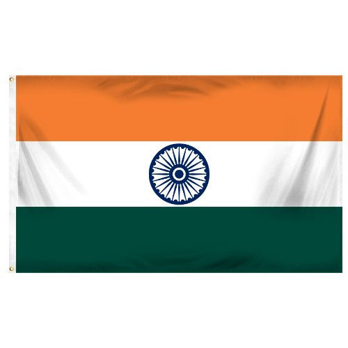 Online Stores India Printed Polyester Flag, 3 by 5-Feet