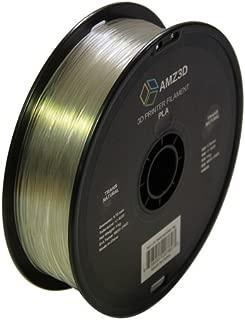 1.75mm Trans Natural PLA 3D Printer Filament - 1kg Spool (2.2 lbs) - Dimensional Accuracy +/- 0.03mm