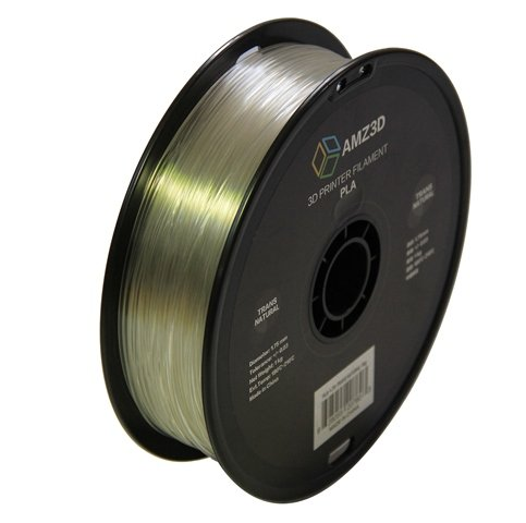 1.75mm Transparent Natural PLA 3D Printer Filament - 1kg Spool (2.2 lbs) - Dimensional Accuracy +/- 0.03mm