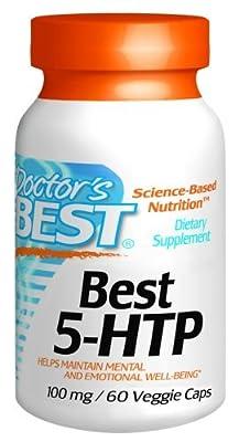 Doctor's Best Best 5-HTP, 100 mg Vegetarian Capsules