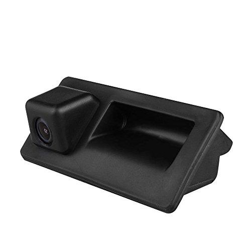 HD 720p CCD Trasera Cámara, Cámara de Marcha Atrás con de Visión Nocturna para Tiguan Touareg T5 Golf 6, Variant Touran Porsche Cayenne 958 A4 S5 Q3 Q5 2011-2015