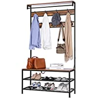 Vivohome 5-in-1 Entryway Hall Tree with Shoe Bench
