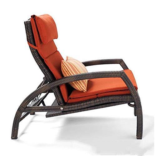 WYYH Tumbona plegable de jardín, ratán telescópico, tumbona de playa, respaldo ajustable, silla de jardín utilizada para acampar al aire libre en la playa para las vacaciones