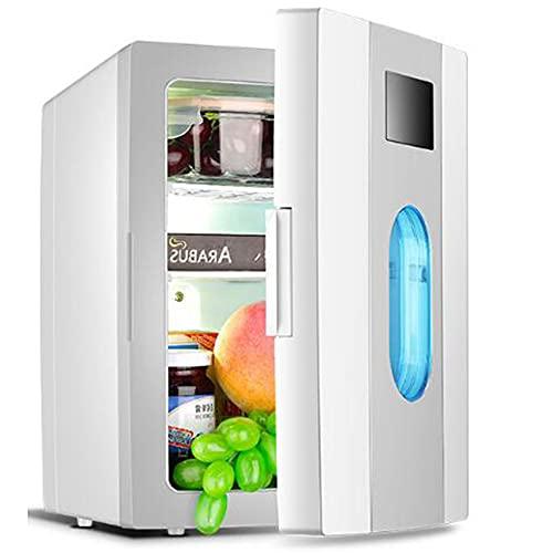 10L Mini Refrigerador, Refrigerador De Una Sola Puerta Doméstica Pequeña para El Dormitorio De Un Solo Estudiante, Doble Uso para Automóvil, Automóvil Y Hogar,Gris,10L