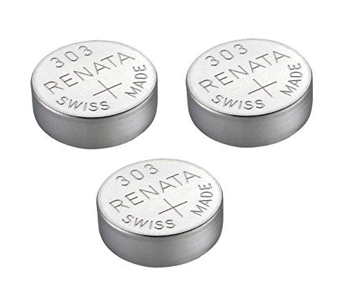 Renata - 303 Uhrenbatterie Schweizer Herstellung Silberoxid 1,5V (SR44SW) x3