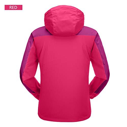 7VSTOHS Chaquetas Softshell Ligeras para Mujer Impermeable Transpirable a Prueba de Viento Resistente al Agua Chaquetas al Aire Libre para Senderismo Ciclismo Trekking