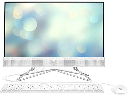 """HP All-in-One 22-df0005ns – Computer desktop da 21.5"""" FHD (AMD Ryzen 3 3250U, 8 GB RAM, 256 GB SSD, AMD Radeon™ senza sistema operativo) bianco, tastiera QWERTY spagnolo"""