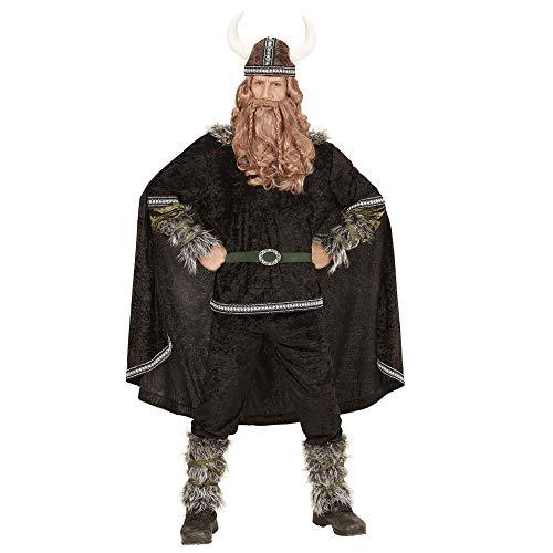 WIDMANN 05984adultos Disfraz Vikingo, Superior, pantalones, cinturón, mangas, pierna Sirven, capa y casco , color/modelo surtido