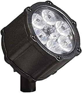 Kichler Lighting 15743BKT LED Accent Light 6-Light Low Voltage 60 Degree Wide Flood Light, Textured Black with Clear Tempered Glass
