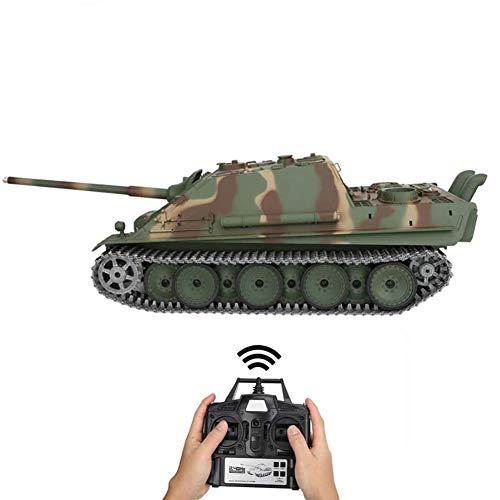 Deliya 2.4Ghz RC Ferngesteuerter Panzer Metall Mit Schussfunktion, Rauch Und Sound, Inkl. Akku, Ladegerät, Fernsteuerung