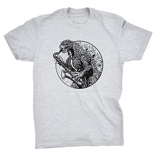 Godzilla spelen de saxofoon retro vintage monster T-Shirt
