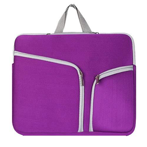 Laptop Tasche 11/13/14/15/17 Zoll Handtasche Notebooktasche Aktentasche Tablet Tasche Schulter Bag Wasserabweisend Satchel Bussiness Aktentasche Multifunktions Laptoptasche (Grün, XL)