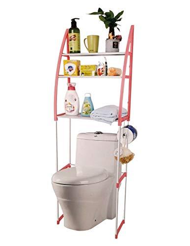 Deals - Organizador con 3 estantes, estante encima del inodoro y baño, ahorra espacio y portaobjetos.