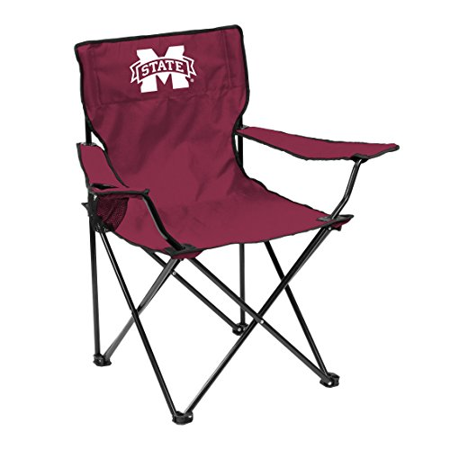 Logo Brands NCAA Mississippi State Bulldogs Unisex Adult Quad Chair with Single Cup Holder, Red, One Size