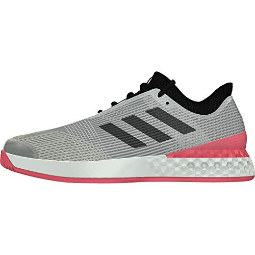 adidas Adizero Ubersonic 3.0, Scarpe da Tennis Uomo, Argento (Msilve/Cblack/Flared Msilve/Cblack/Flared), 48 2/3 EU