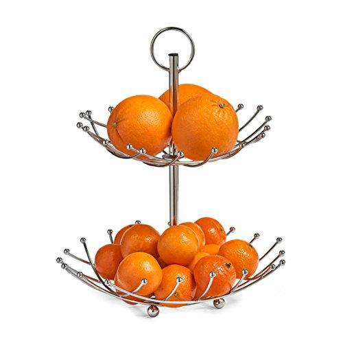 Zeller 27313Alzata Frutta a 2Strati, Cromato, Metallo, 0.1x 28.5x 36cm