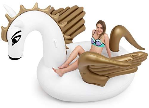 SummerFan Aufblasbares Pegasus Luftmatratze - Pool Floß, Pool Einhorn , Aufblasbar Schwimmen Floß