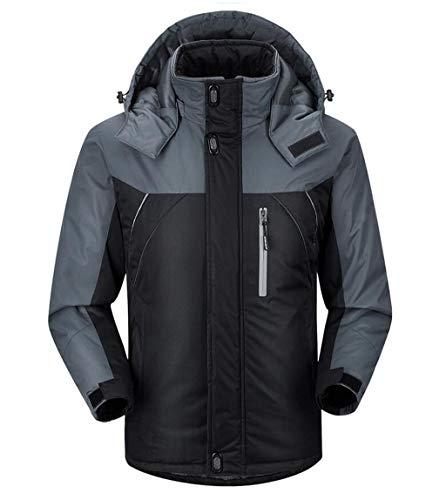 XXHDEE waterdichte jas met capuchon, casual ski-jack voor dames en heren, winddicht, waterdicht