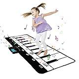 Shayson Tappeto Musicale Bambini,Tappetino per Pianoforte con 8 impostazioni di Strumenti Musicali Multifunzionale Giocattolo Educativo Perfetto Natale Regalo per Bambini Bimbi Ragazzi e Ragazze