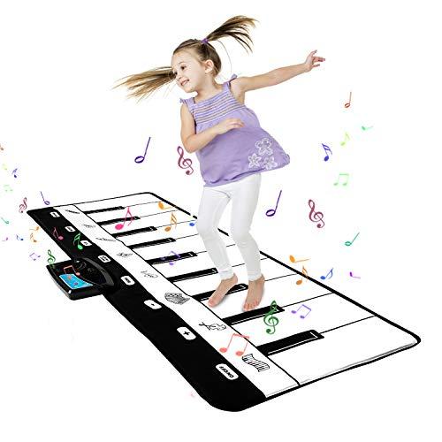Shayson Alfombra de Piano, Estera de Música Alfombra de Teclado Educativa Táctil Musical Touch Juego Musical para Bebé Niños Navidad Halloween Regalo 100 * 36 cm