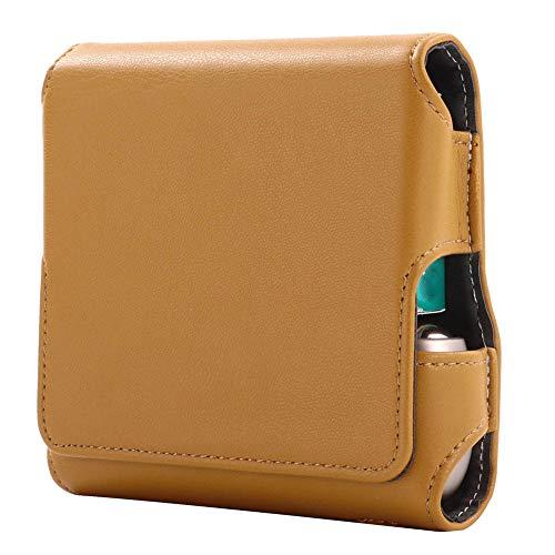 DrafTor DrafTor E Zigarette Tasche, PU Leder Zigarettenetui für I-Q-O-S 3.0 mit Magnetabdeckung (nur Tasche)(braun)