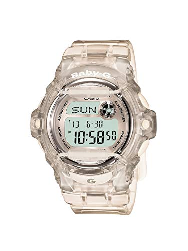 Casio Women's Baby G Quartz Watch with Resin Strap, Clear, 23.4 (Model: BG-169R-7BM)