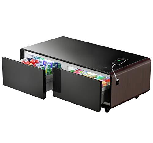 Primst Smart Refrigerator Coffee Table, Padauk