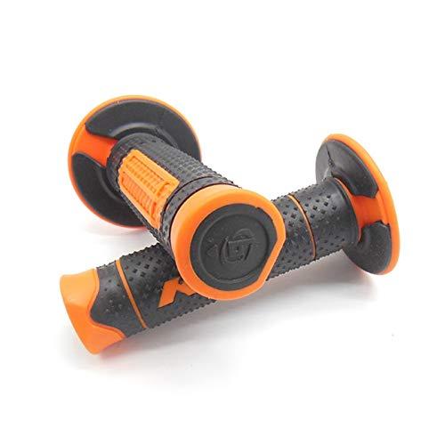22 mm de goma de la motocicleta manillar agarre la barra de manillar Pitbike para KTM 530XC-W XCR-W Exc-R Freeride 250R Freeride 350 Duke 690 Enduro (Color : Orange)
