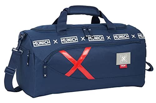 Safta Bolsa de Deporte de Munich Spike, 500x250x250 mm, Azul Marino